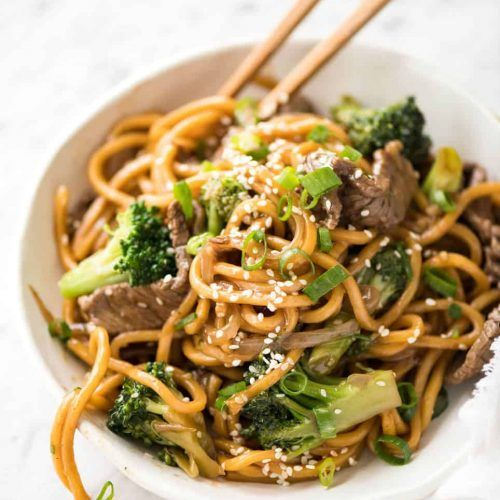 Chinese Beef and Broccoli Noodles