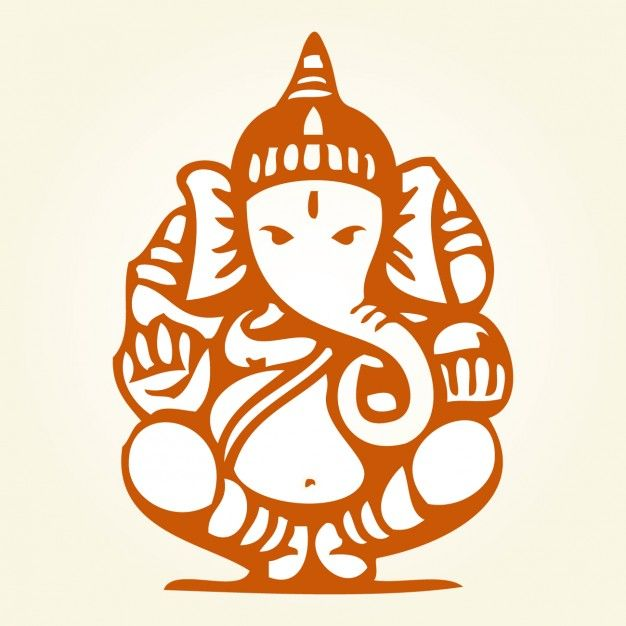 Sitting Ganesha Drawing Free Vector
