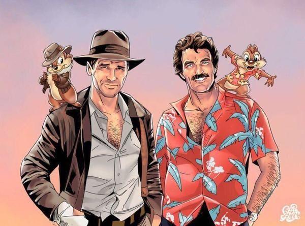 А знаете ли вы, что?.. Чип, Дейл, чип и дейл, индиана джонс, детектив магнум