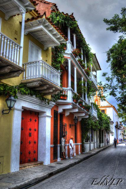 Beautiful colonial streets of Cartagena de Indias