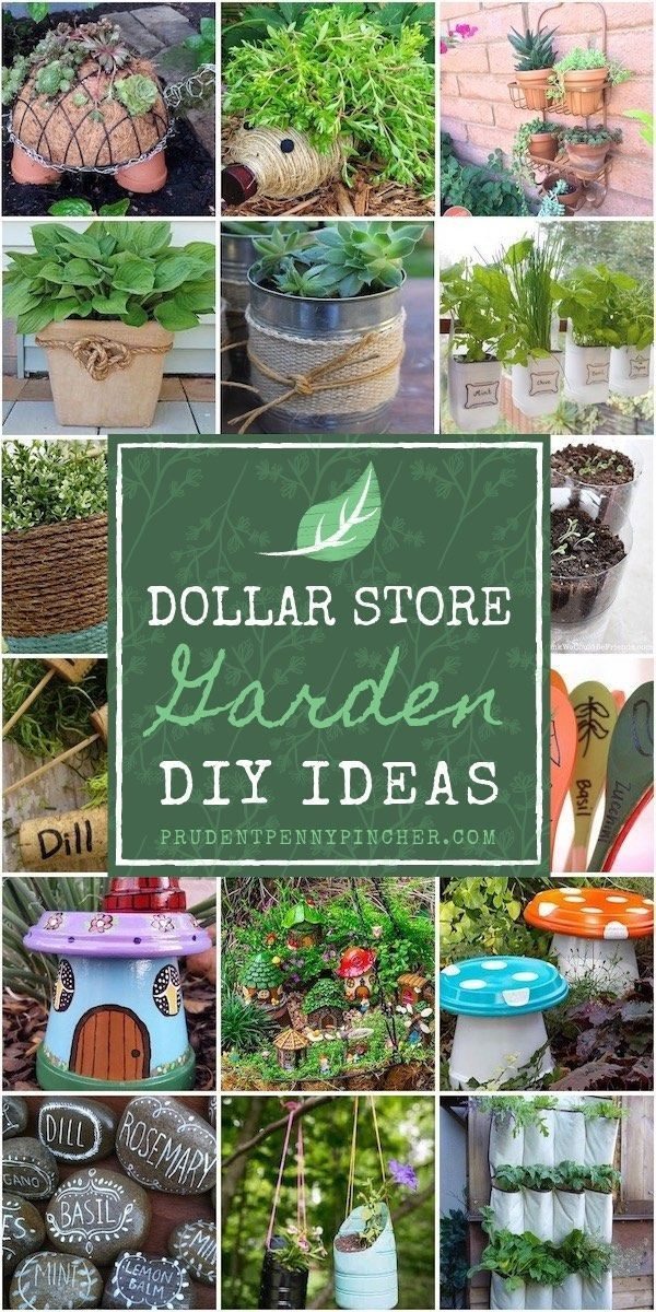Verschönern Sie Ihren Garten mit diesen DIY-Ideen zu einem günstigen Preis. F