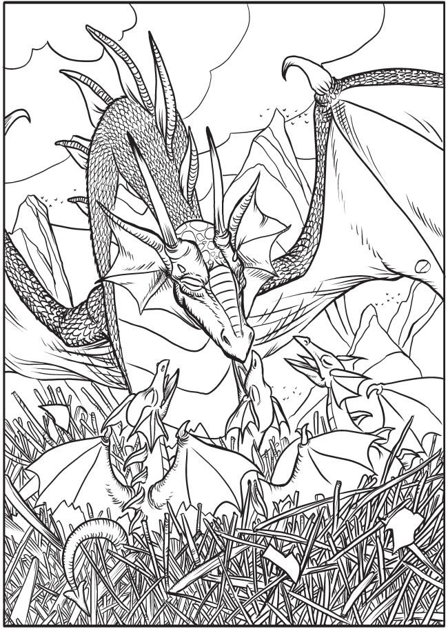 welcome to dover publications creative haven fantastical dragons coloring book - Dover Coloring Books For Adults