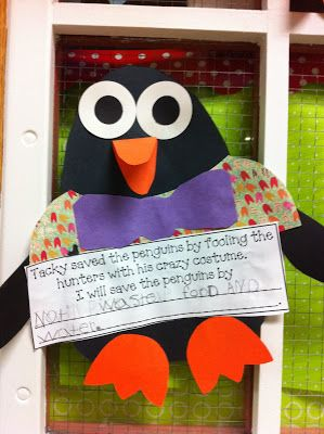 Jessica Williamson's version of Tacky the Penguin! This uses the Live, Love, Laugh Every Day Tacky the Penguin pattern and a writing prompt. What a cute display this would make!