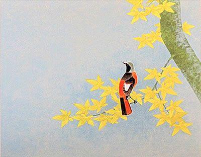 'Brisk Day' lithograph by Atsushi UEMURA
