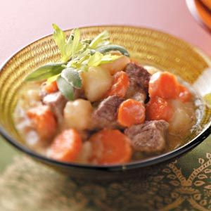 Comfort Food Dinner Recipes from Taste of Home, including All-American Beef Stew