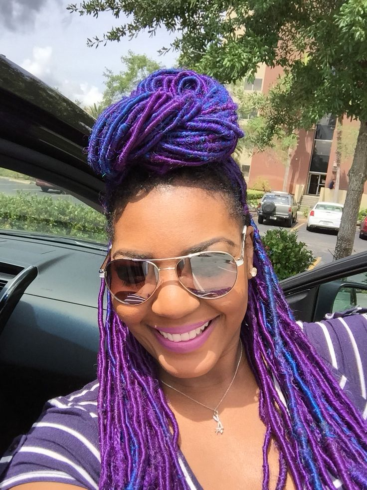 Pin By Sherry On Fauxlocs Braids Pinterest Dreads Blue And Purple And Blue