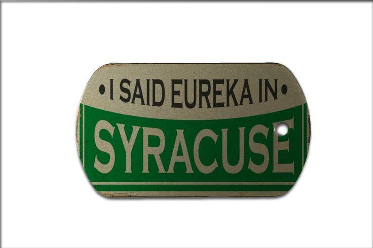 Dog Tag City Syracuse USA Print
