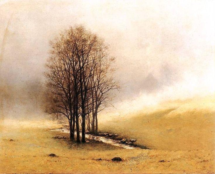 Stanisław Witkiewicz - Mgła wiosenna: Mgła wiosenna 1893. Olej na płótnie. 60,5 x 76 cm. Muzeum Narodowe, Kraków.