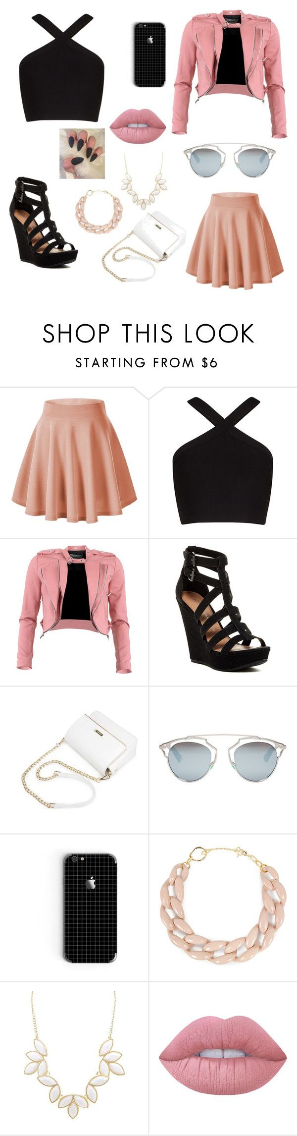 """""""Vestuario Pinking"""" by biancagramaje on Polyvore featuring BCBGMAXAZRIA, FRACOMINA, Chinese Laundry, Christian Dior, DIANA BROUSSARD, Charlotte Russe, Lime Crime and modern"""