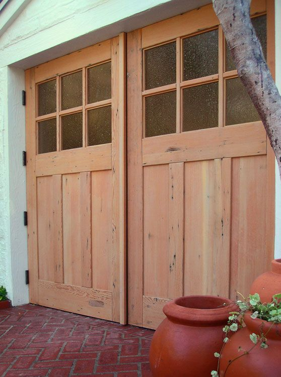 Green Carriage Doors Green Craftsman Traditional (Lites from Real Carriage Door Company & 133 best Carriage Doors images on Pinterest | Carriage doors Custom ...