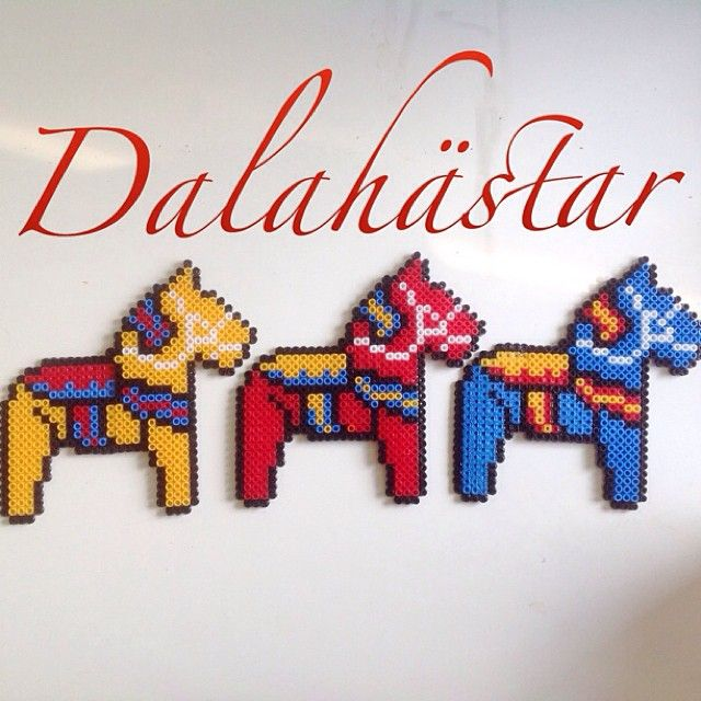 Swedish Dala Horses hama perler beads by emelieskreativa