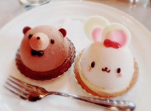 Bunny and bear cupcakes!!