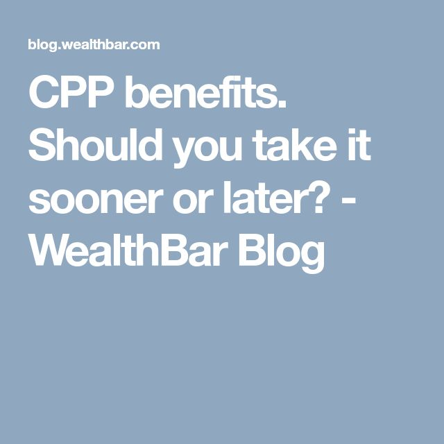 Are you better off taking CPP now - or waiting? Find out.