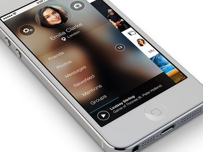 VK App for iOS7 #iOS7 #menu #leftnav