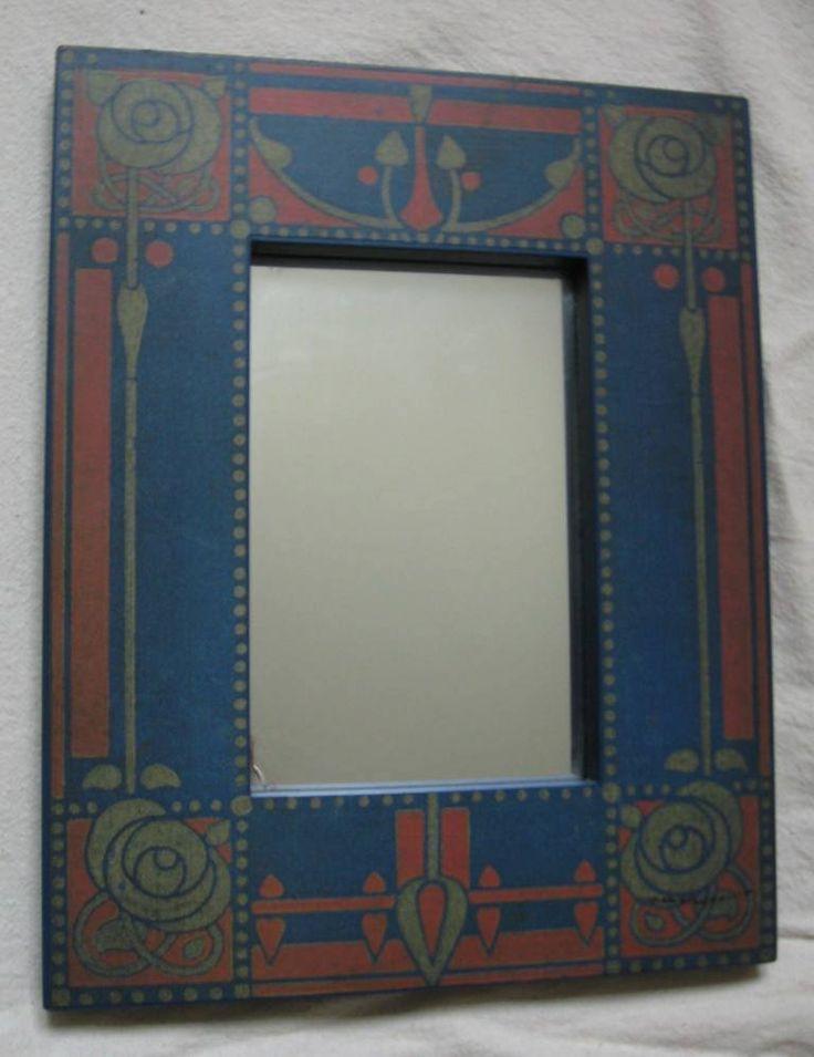 Stunning decorative Arts & Crafts style mirror frame; william morris