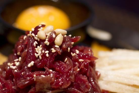 Raw marinated beef - Yukhwae -  육회