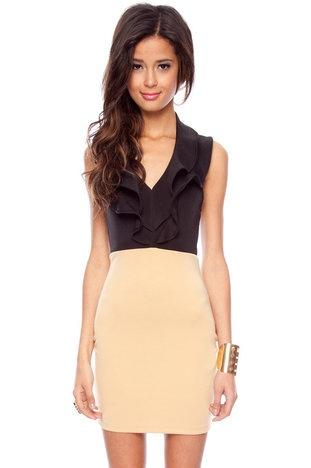 cute: Camels Dresses, Cute Work Clothing, Ruffles Halter, Business Fashion, Color, Dresses 26, Halter Dresses, Black, Work Dresses