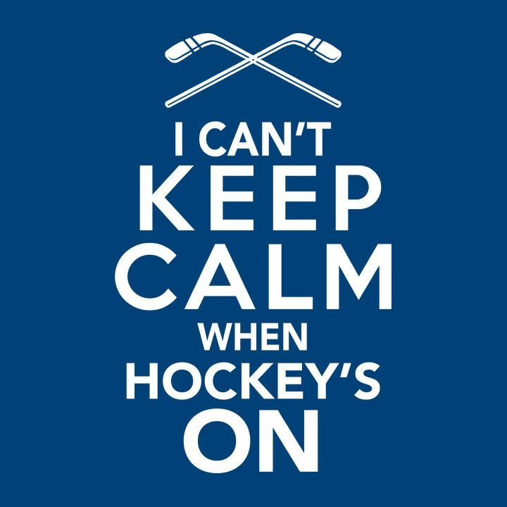 Gift for Hockey Fan T-Shirt with Keep Calm Quote. Perfect for sports fans.