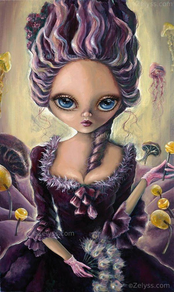 Big eyed art by Zelyss: Lollipop Rococo