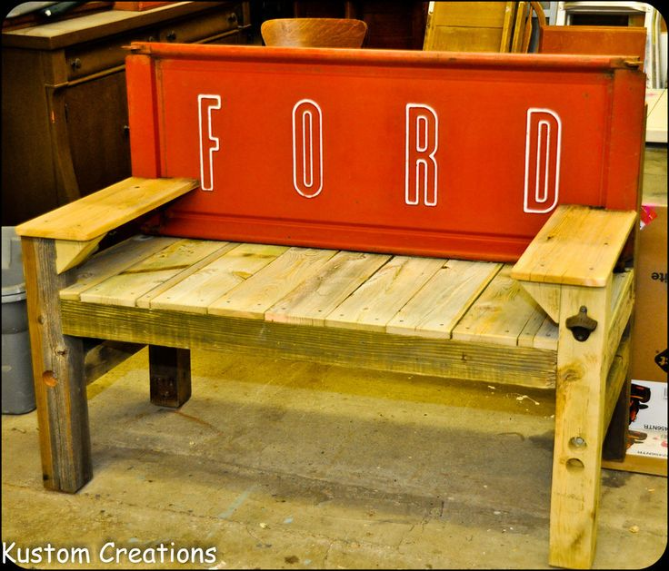 66 Best Antique Work Benches Images On Pinterest: Tailgate Benches - KustomCreations