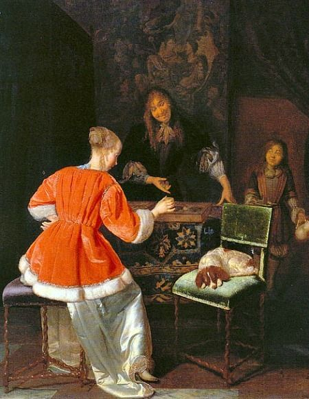 Jacob Ochtervelt The Backgammon Players 1667