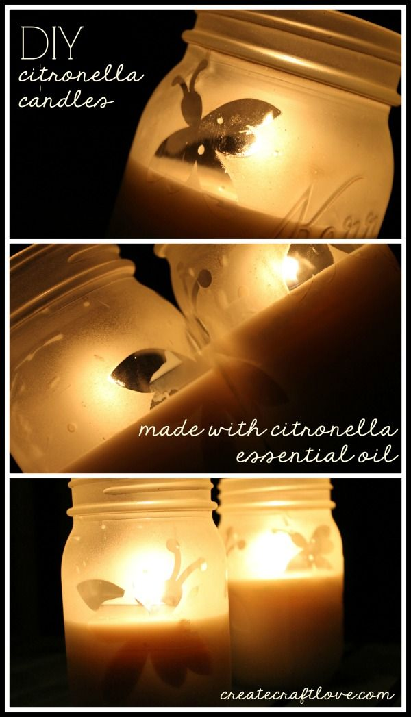 Make your own DIY Citronella Candles using essential oils!  You will need this this summer.