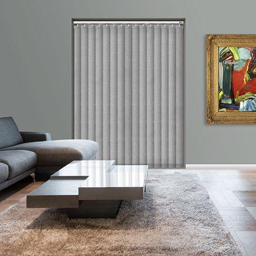 Controliss Perla Silver 240V AC mains RTS remote control electric vertical blind. #Shades #Home #HomeDecor #InteriorDesign #Decor #VerticalBlinds #CreateYourHome #BudgetBlinds #WindowShades #Window #Design #Blind #WindowCoverings #Windows #Blinds #MadeinUK