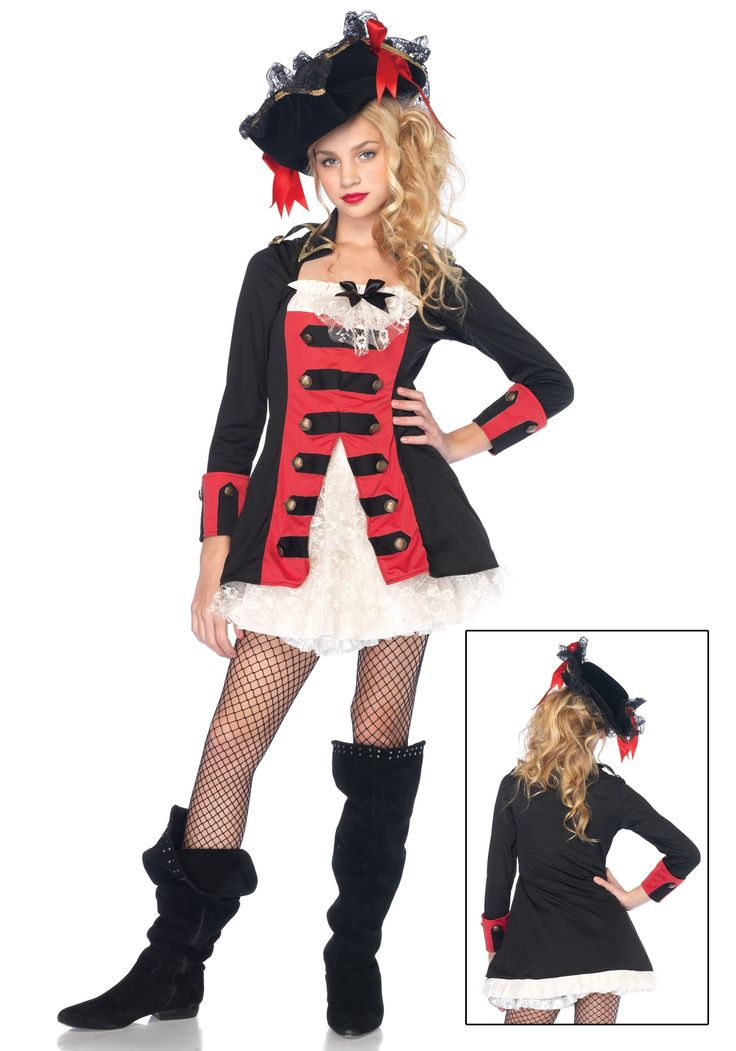 Teen Charming Pirate Captain Costume - M/L