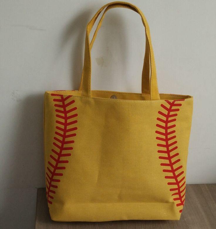 new 4 colors in stock small baseball cycling Lady Canvas Bag Shoulder bag Women's Handbag Cute Canva Tote Bag basketball