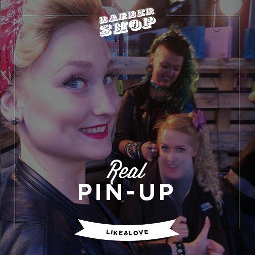 Real Pin-up look. BarberShop  Gdansk 2014. Vans Offthewall party @ Stacja Deluxe. Hair: Aneta (BarberShop Crew)