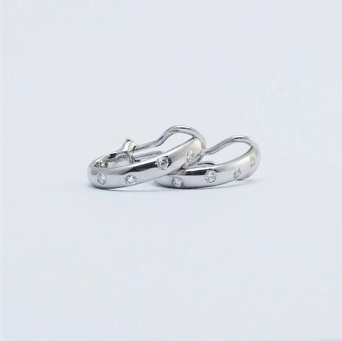 Tiffany Platinum and Diamond Earrings