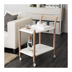 IKEA - IKEA PS 2017, Side table on castors, The side table can be used in many ways – as a work station, coffee table, kitchen trolley or bedside table.Easy to move since the side table has castors and a handle at a convenient height.2 fixed shelves provide increased stability.