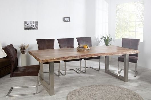furniture - tables and coffee tables-Stół jadalniany Factory Wood akacja 240cm