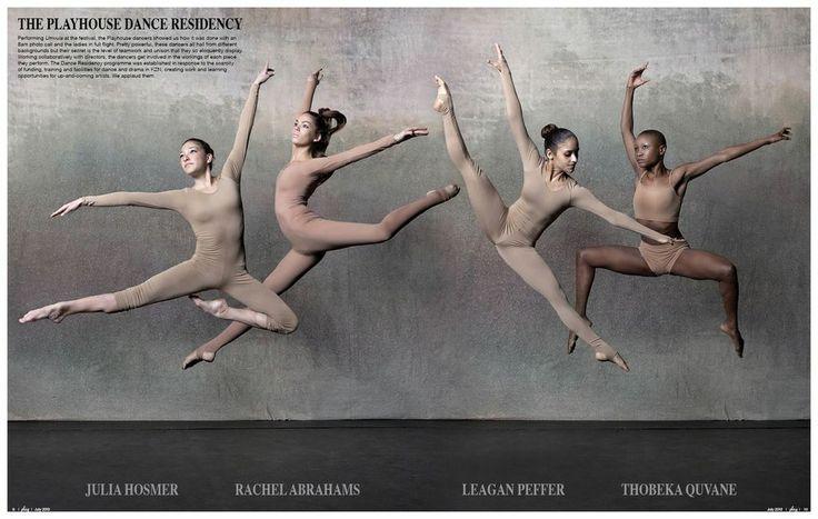 The Playhouse Dance Residency. Julia Hosmer, Rachel Abrahams, Leagan Peffer, Thobeka Quvane. Beautiful dancers <3