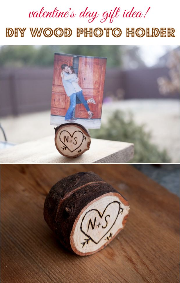 Valentine's Day Gift Idea: Rustic DIY Photo Holder (http://blog.kicksend.com/valentines-day-diy-photo-holder/)
