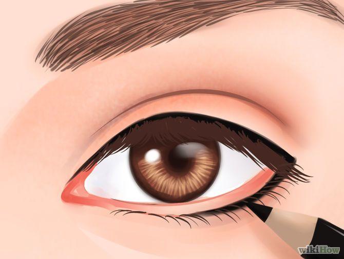 Aprende a hacer que tus ojos se vean más grandes via es.wikihow.com