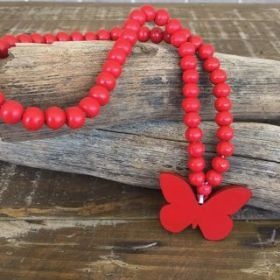 Butterfly Necklace | Red #oliverthomas #zavthebrave #butterfly #girlsnecklace #necklace #kidswear #kidsnecklace