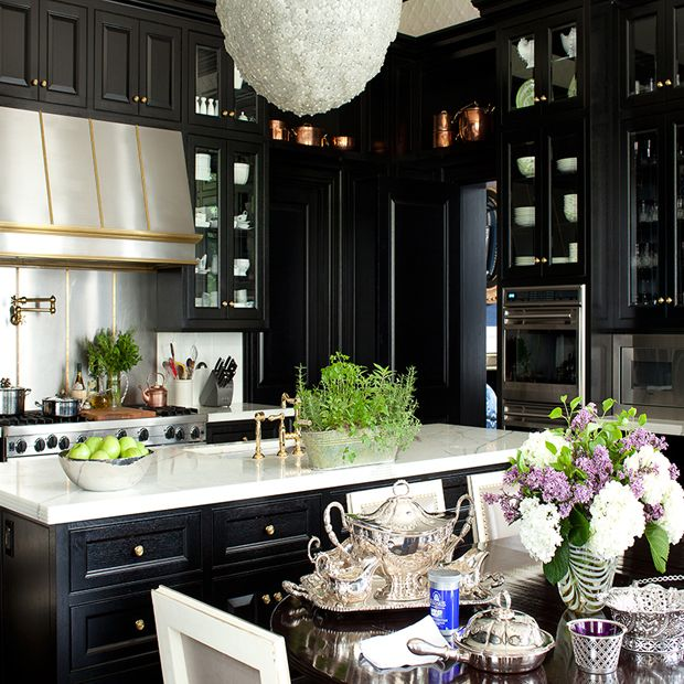 16 Kitchens with Black Kitchen Cabinets Done 16 Different