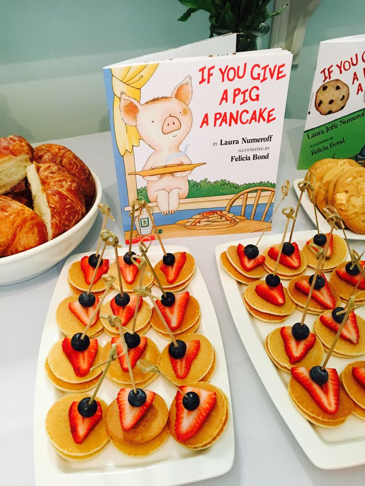 Story book baby shower mini pancakes