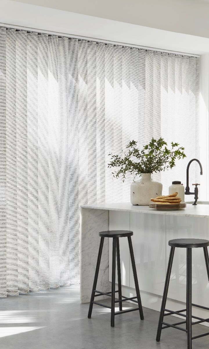 fabric vertical white blind by post kobe blinds box