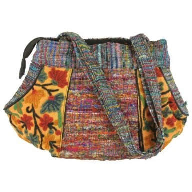 Cash & Silk Reversible Round Ladies Bag