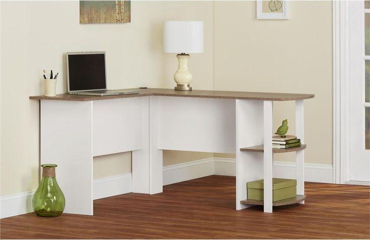 Home Office White L Shaped Desk W Bookshelves Computer Desk W Storage Shelves  #Altra #Transitional #Home #Office #White #Furniture