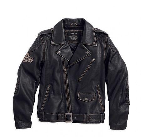 98063-13VM - Vintage Leather Biker Jacket - Harley-Davidson® Mens - Tall available - From £458.69 - Leather
