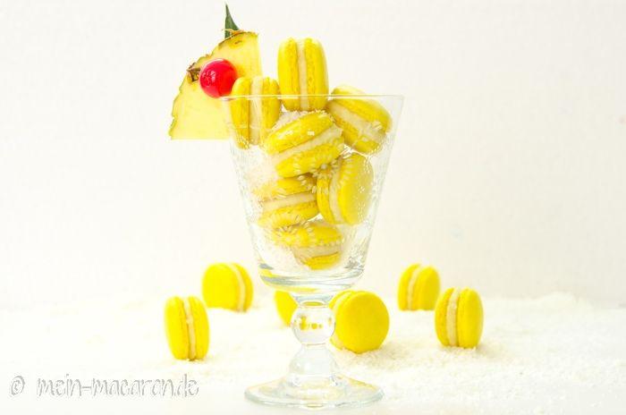 Rezept Ananas Macarons a la Pina Colada