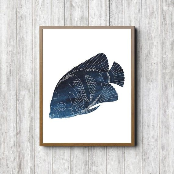 Instant Download – Tropical Watercolor Fish Printable Wall Art – Sea / Marine Life Poster – Sea Animal Print