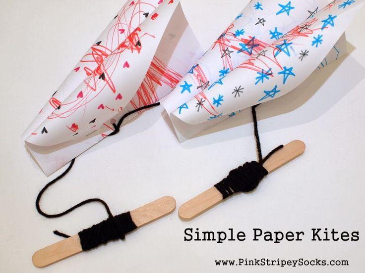 Pink Stripey Socks: Make a simple paper kite