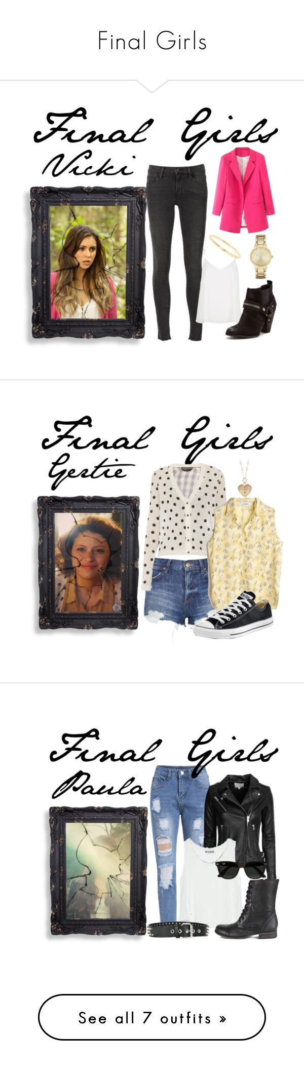 """""""Final Girls"""" by bebe6121985 on Polyvore featuring Frame Denim, River Island, Steven by Steve Madden, Ippolita, Kate Spade, women's clothing, women's fashion, women, female and woman"""