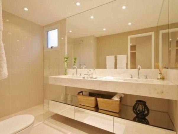 banheiro branco e bege parede pintura tinta acrilica