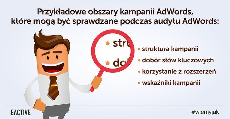 Jakie obszary mogą być sprawdzane podczas audytu AdWords?
