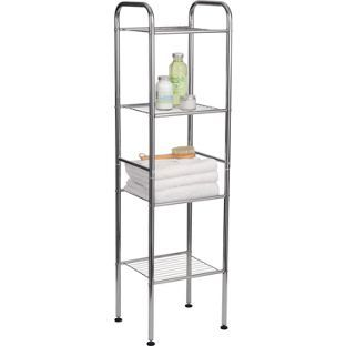 Buy 4 Tier Wire Shelf Unit at Argos.co.uk - Your Online Shop for Bathroom shelves and units.